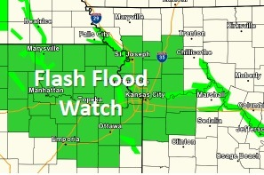 Flash flood watch. (National Weather Service graphic)