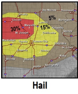 Hail risk (National Weather Service graphic)