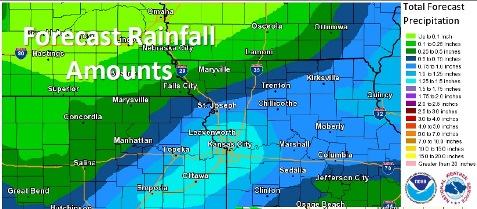 Rainfall, flash flooding potential. (National Weather Service graphic)