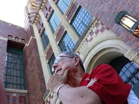 Craig Delich, a former student and teacher at Wyandotte High School, has written a new history of the school that will be published in November. (Photo by Rebecca Tombaugh, Copyright 2015 by Rebecca Tombaugh)