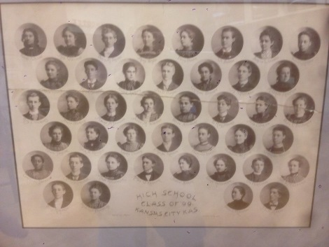 A class picture from 1899. Craig Delich, a former student and teacher at Wyandotte High School, has written a new history of the school that will be published in November. (Photo by Rebecca Tombaugh, Copyright 2015 by Rebecca Tombaugh)