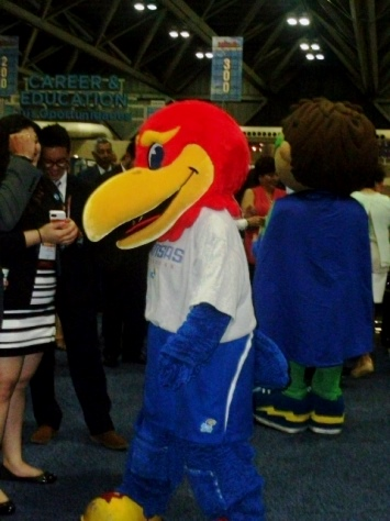 Costumed characters strolled around the NCLR conference on Saturday in Kansas City, Mo. (Photo by William Crum)