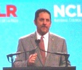 Kansas City, Kan., Mayor Mark Holland addressed the National Council of La Raza (NCLR) conference Saturday at the Kansas City Convention Center in Kansas City, Mo. (Photo by William Crum)