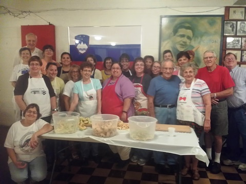 Volunteers are preparing for the annual Slovenefest benefit Sept. 26 at Holy Family Club. (Photo from Kathy Hanis)