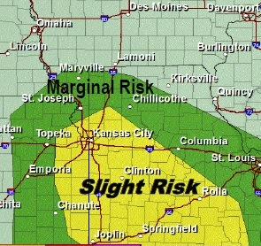 Wednesday's severe storm outlook. (National Weather Service graphic)