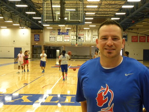 A veteran of eight seasons as an assistant coach including last year as men's assistant at Kansas City Kansas Community College, 34-year-old Joe McKinstry was announced as the new women's head coach at KCKCC. (KCKCC photo by Alan Hoskins)