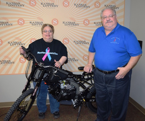 Peggy and Bob Miller will auction off a lottery prize to raise money for cancer survivors. (Kansas Lottery photo)