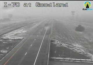 I-70 has been closed at Goodland, Kan., to the Colorado border because of winter weather conditions, according to KDOT. (KanDrive photo)