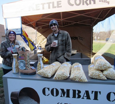 Combat Corn returned for another year Saturday at the Eisenhower Craft Fair in Kansas City, Kan. (Staff photo)