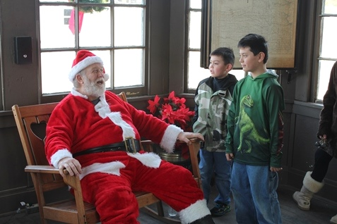 Scenes from Santa's Express and holiday celebration at the Ag Hall