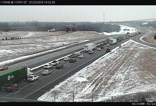 Crash reported on I-70 near 110th