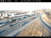 Traffic was backed up on I-35 near 18th Street Expressway after a crash about 4:30 p.m. Wednesday, Feb. 10, according to KC Scout. (KC Scout photo)