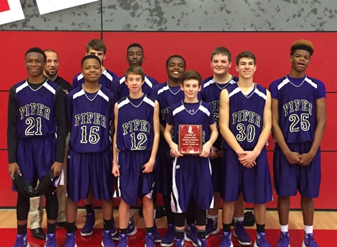 Piper freshmen took first place at the Lansing boys basketball tournament. (Piper photo)