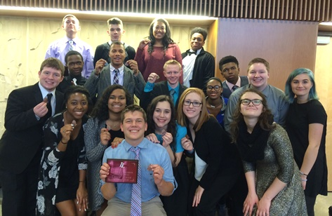 Piper forensics students won awards at the Lansing Forensics Tournament. (Piper photo)
