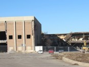 Demolition was going on last week at Indian Springs Shopping Center in Kansas City, Kan. This view is on the southeast side of the mall.
