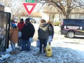 A Kansas City, Kan., resident recently led an effort to ship bottled water and deliver it into the hands of Flint, Mich., residents. (Photo from Janice Witt)