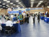 About 73 employers had booths at the Workplace Kansas City Job Fair April 27 at KCKCC. (Staff photo by Mary Rupert)