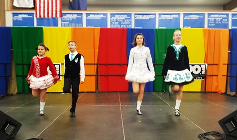 The School of Irish Dance, directed by Bridgid Driscoll, performed April 16 at the Wyandotte County Ethnic Festival. (Photo by William Crum)