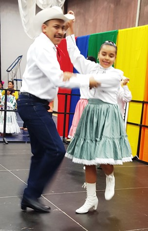 Rosemary's Fiesta Mexicana performed April 16 at the Wyandotte County Ethnic Festival at Kansas City Kansas Community College. (Photo by William Crum)