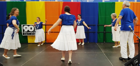 The Tikvah Dancers of Israel performed April 16 at the Wyandotte County Ethnic Festival at Kansas City Kansas Community College. (Photo by William Crum)