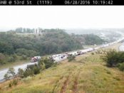 KC Scout reported that I-435 southbound in Johnson County, near Holliday Drive, was closed. There was a fatal crash at the location. Motorists were asked to use alternate routes. (KC Scout photo)
