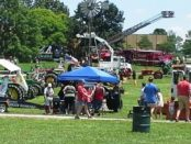 Children had the opportunity to see trucks up close at Touch-a-Truck and Tractor Daze through 4 p.m. Saturday at the National Agricultural Center and Hall of Fame, 126th and State, Bonner Springs. There were activities for kids, food vendors and live music. (Photo by Steve Rupert)