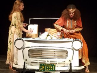 """Ellyn Calvert, a 2011 Bishop Ward High School graduate, on the left, is currently a resident of Wyandotte County. Calvert plays Diana Wallace in """"Chasing Nureyev."""" Meredith Wolfe, right, plays Kate Cockrell. (Photo by William Crum)"""