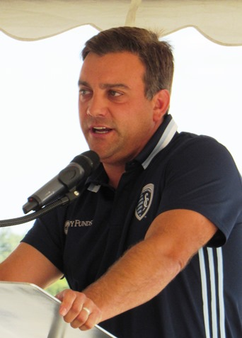 Sporting Kansas City co-owner Robb Heineman said they've been working on this U.S. Soccer Training Center project for about four years. (Staff photo by Mary Rupert)