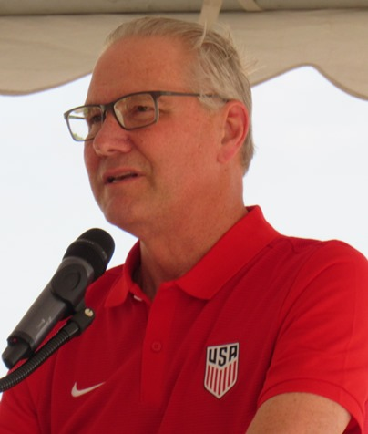 Dan Flynn of U.S. Soccer said he would like to bring a world championship title to the United States. (Staff photo by Mary Rupert)