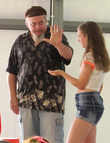 A magic show in the red barn at the Wyandotte County Fair entertained many. (Staff photo by Mary Rupert)
