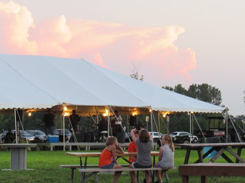 Many persons purchased a meal and ate at the Wyandotte County Fair on Wednesday. (Staff photo by Mary Rupert)
