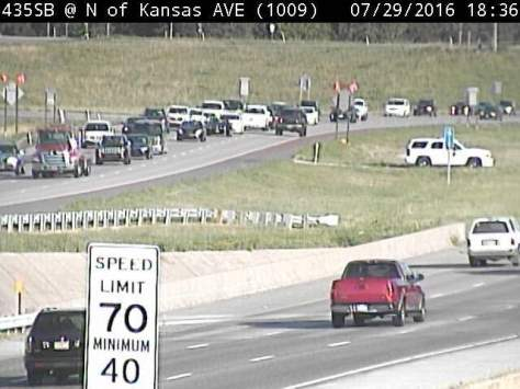 Collision reported on I-435