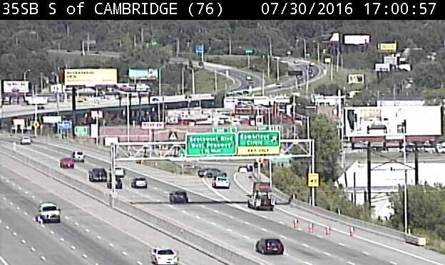 Shooting reported on I-35 at Cambridge Circle