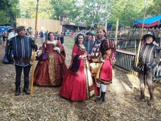 Royalty is part of the annual Renaissance Festival, which opens Labor Day. (Photo by William Crum)