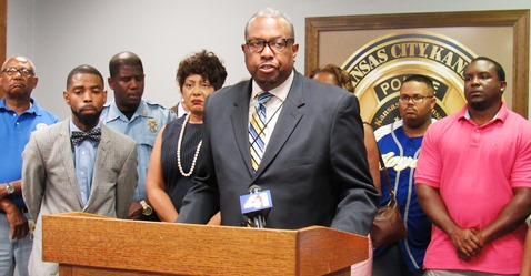 """""""We are just one or two persons away from knowing who are these persons that have committed these acts of violence and murder in our community,"""" Commissioner Harold Johnson said. (Staff photo by Mary Rupert)"""