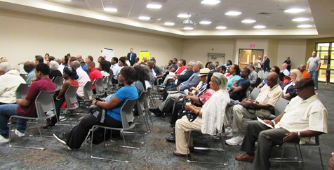 More than 100 people attended the Mayor's Clergy Roundtable forum Tuesday on safety and health. (Staff photo by Mary Rupert)