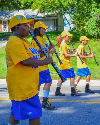 Members of the Schlagle High School Marching Band marched in the Leavenworth Road Parade on Sept. 18. (Photo by Brian Turrel)