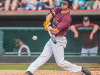 Dalton Wheat of the Kansas City T-Bones who batted .335 this year, will be moving up, as his contract was purchased by the Miami Marlins. (Photo by John Ellis, Kansas City T-Bones Baseball)