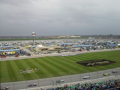 Racing action at the Kansas Speedway