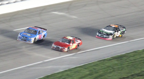 Racing action from Friday night's ARCA Kansas 150 race at the Kansas Speedway, Kansas City, Kan. (Fan photo)