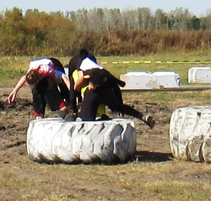 Participants in the event faced an obstacle course. (Staff photo)