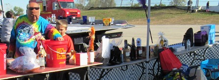 A silent auction was held at the fundraiser Saturday for the Reola Grant Center. (Staff photo)
