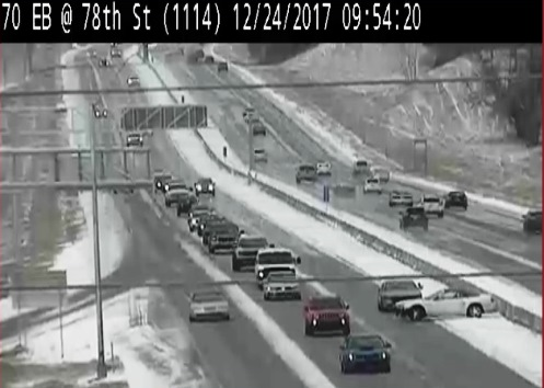 KC Scout reported an accident on eastbound I-70 near 78th before 10 a.m