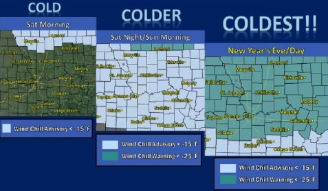 Freezing temps forecast for new year