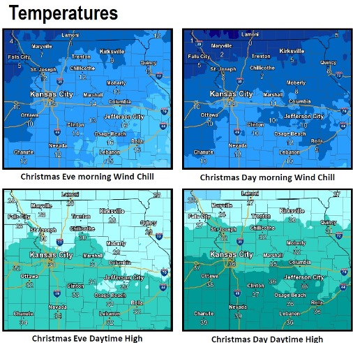 Cold spell to stretch through New Year's