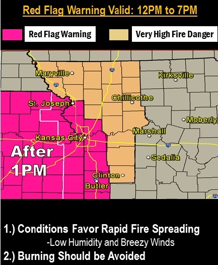 Strong winds, low humidity create fire danger Thursday, weather service warns