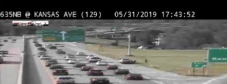 Accident reported at northbound I-635 at Kansas Avenue
